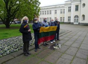 2020 m. gegužės 6 d. Kaune prie Muzikinio teatro vyko Prano Gudyno, 91-ųjų žūties metinių prisiminimas.